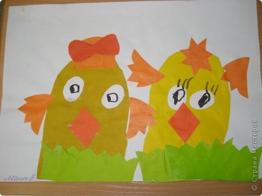 Мы в своей работе решили сделать сразу двух цыплят.Идейку подсмотрели у Светланы Белых, за что ей огромное спасибо. фото 2