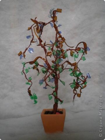 дерево из пластиковой бутылки