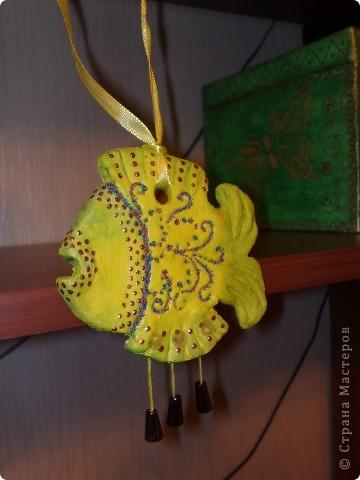 Моя первая рыбка выставленная вчера таинственным образом куда то уплыла, поэму выставляю повторно.  Глаз не делала намерено. фото 3
