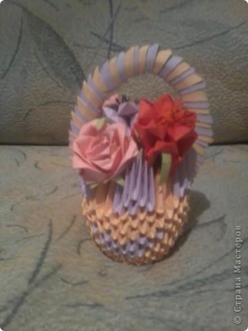 вот такая корзиночка с цветами у меня получилась фото 1