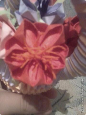 вот такая корзиночка с цветами у меня получилась фото 3