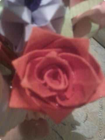 вот такая корзиночка с цветами у меня получилась фото 5