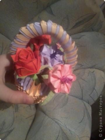 вот такая корзиночка с цветами у меня получилась фото 7