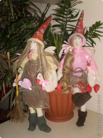 Ведьмочки Рост 42 см. Волосы из пакли. Очень хорошо смотрятся как настоящие. фото 1