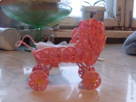 коляска выполненная в квиллинге фото 3