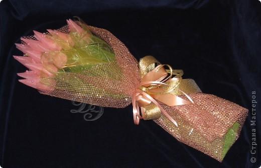 Тюльпаны с бутонами из органзы фото 1