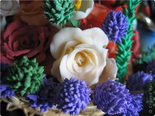 букетик тюльпанов и компания роз фото 2