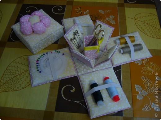 Вот такую коробочку смастерила для швейных принадлежностей ) фото 1