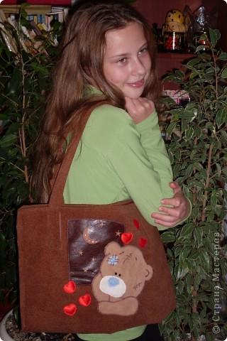 Сумка с мишкой Тедди для любимой дочки.
