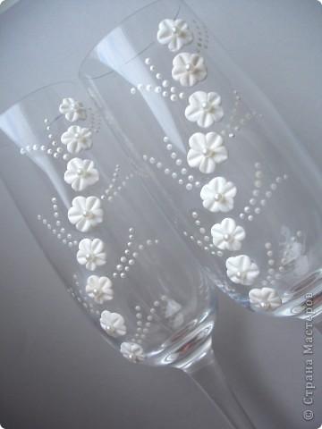"""Свадебные бокалы """"Нежность чувств"""" фото 1"""
