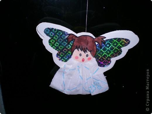 Вот таких ангелочков мы делали с ребятами в детском саду для украшения группы. фото 2