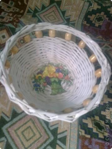 Вот еще одну корзиночку оформила.  фото 2