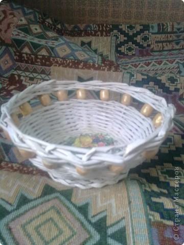 Вот еще одну корзиночку оформила.  фото 1