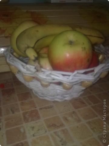 Вот еще одну корзиночку оформила.  фото 3