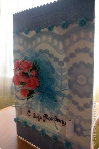 Открыточка на День Рождения племяшке. Спасибо irinaje за идею с букетиком и ссылку на МК фото 2