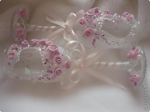 Розовые бокальчики фото 2