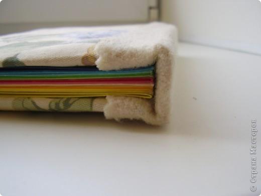 Мои последние поделки- проделки. Блокнот. В тканевой мягкой обложке сделан по мотивам мастер-класса Котятины на www.scrap-info.ru фото 3
