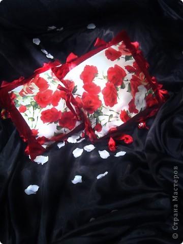 Розовый бум (бархат, шёлк, атласная лента) фото 2