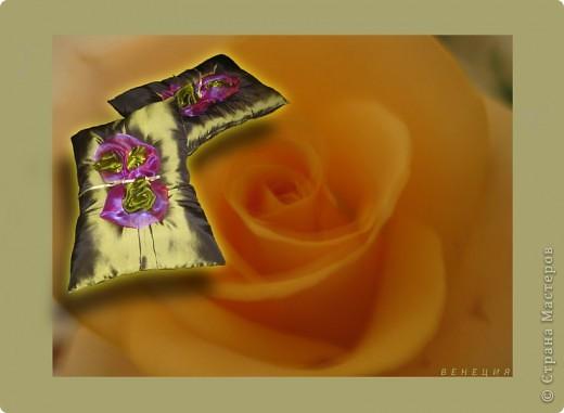 Розовый бум (бархат, шёлк, атласная лента) фото 5