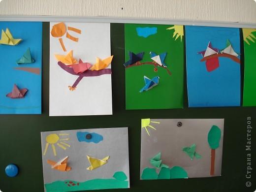 Оригами. Птицы на ветке. фото 3
