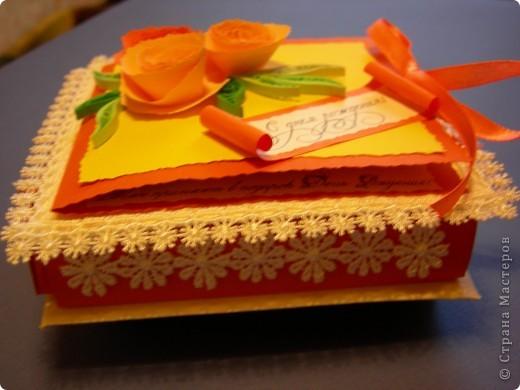 Коробочка в раскрытом виде с денежкой. фото 4