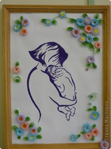 Картинки мать с ребенком на руках в стиле квиллинг