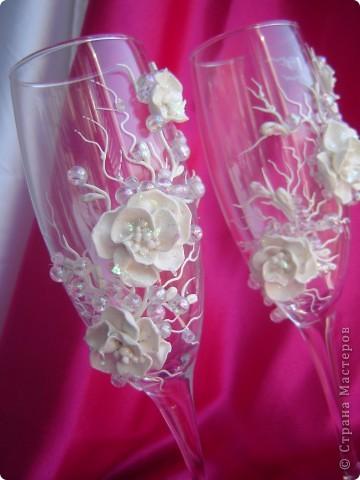"""Свадебные бокалы """"Сакура"""" фото 2"""