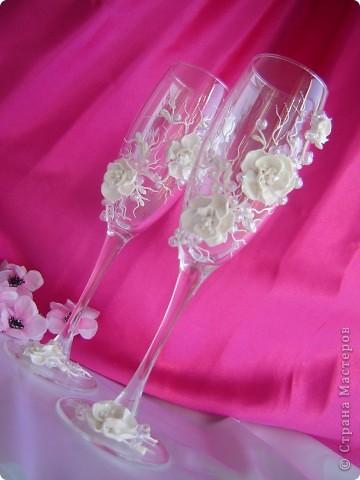 """Свадебные бокалы """"Сакура"""" фото 3"""