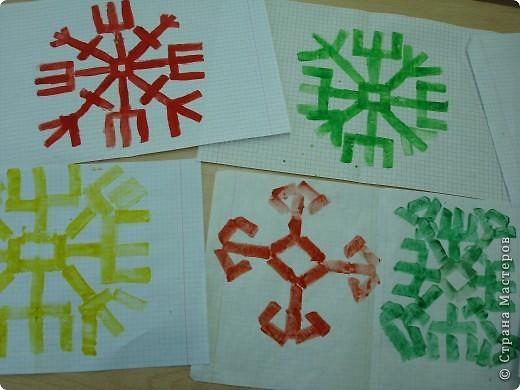техника набойка - печатание картофельным штампом  чувашского орнамента фото 2