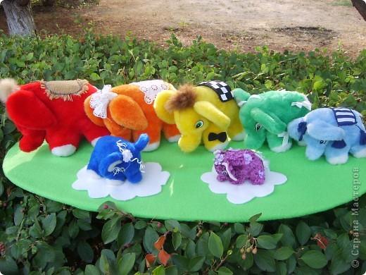 Радужные слоны фото 1