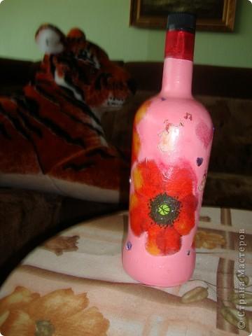 Сыну подарили бутылочку и сказали открыть при самом хорошем случаи.А для хорошего случая и захотелось её приукрасить фото 1