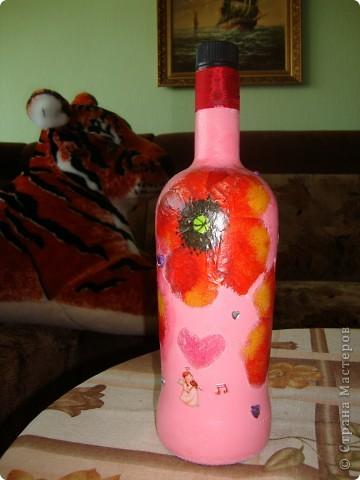 Сыну подарили бутылочку и сказали открыть при самом хорошем случаи.А для хорошего случая и захотелось её приукрасить фото 2