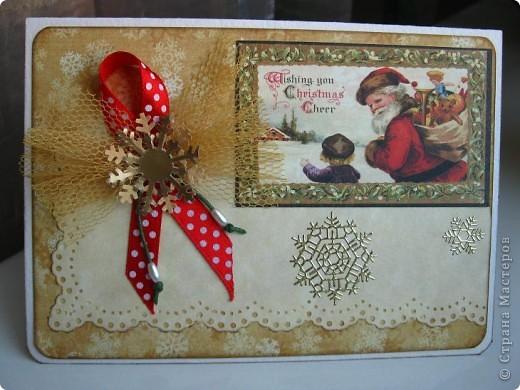 Готовь сани летом, а открытки - когда материал есть! Наконец дождалась посылку с новогодними прибамбасами! фото 2