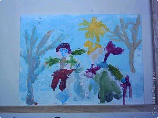 Елизавета изобразила два карабля,один с принцессами,другой с мальчиками,принцессы плылут к Лизе а мальчики к мальчикам.Так сказала Елизавета. фото 4