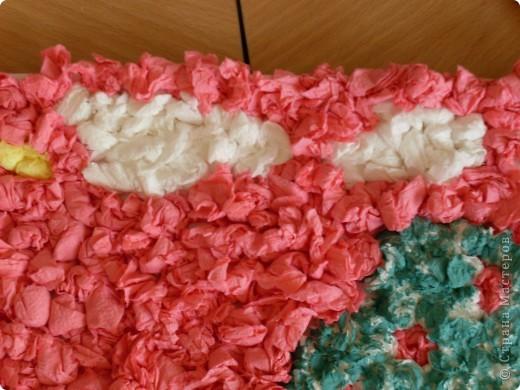 Вот такую работу смастерили вместе с Элиной-9 лет, из салфеточных шариков.  фото 3