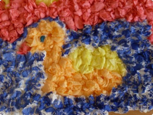 Вот такую работу смастерили вместе с Элиной-9 лет, из салфеточных шариков.  фото 5