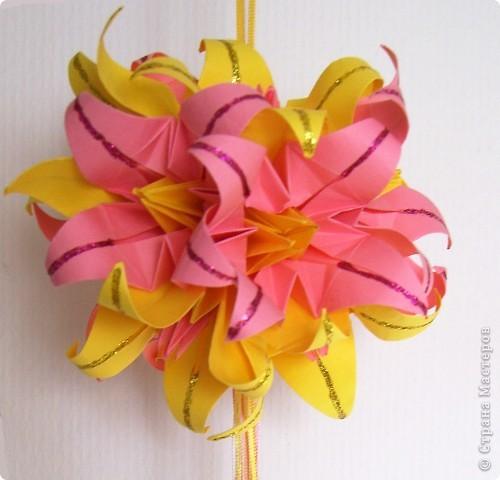 Лилии желто-розовые фото 1