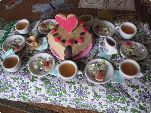 Свадебный тортик для кукол. фото 3