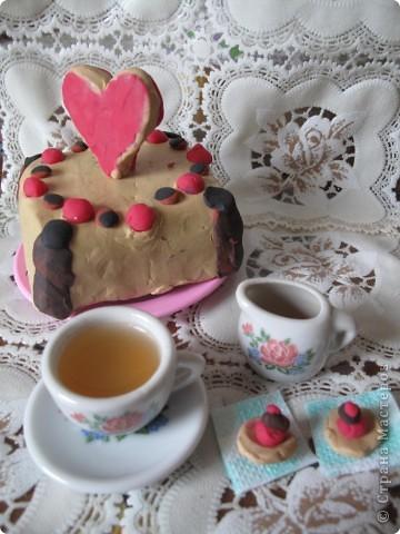 Свадебный тортик для кукол. фото 1