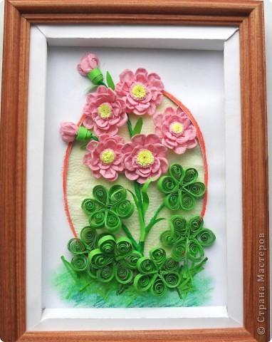 Салфеточные розовые цветы фото 2