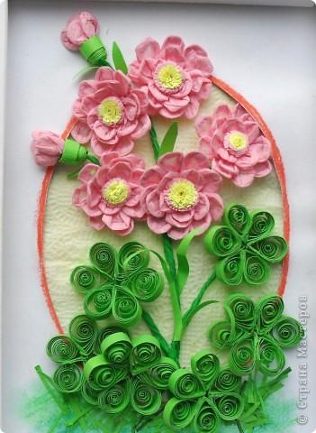 Салфеточные розовые цветы фото 1