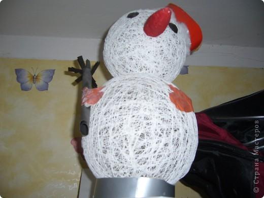 снеговик из воздушных шариков фото 2