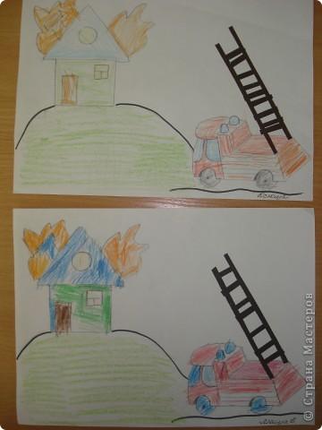 Комплексное занятие рисование+аппликация из бумаги-самоклейки(ступеньки у лестницы)