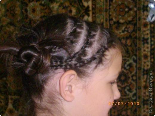 Причёска с двумя пучками. фото 2