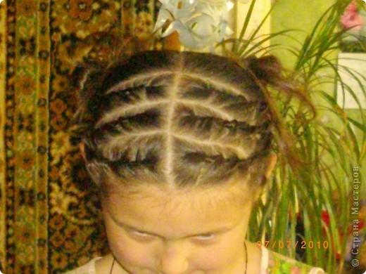 Причёска с двумя пучками. фото 1