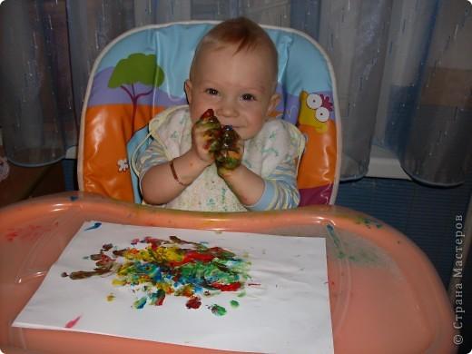 Вот так рисовал мой сынок на днях,Работы минут на 10,зато воссторга и уборки.....))))).это с чего начинал, фото 5