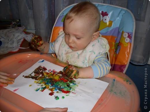 Вот так рисовал мой сынок на днях,Работы минут на 10,зато воссторга и уборки.....))))).это с чего начинал, фото 6