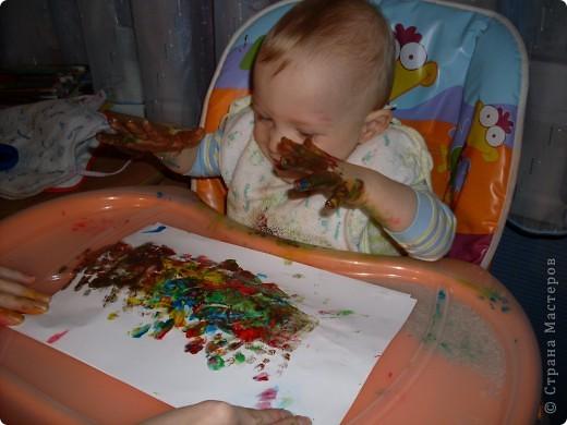 Вот так рисовал мой сынок на днях,Работы минут на 10,зато воссторга и уборки.....))))).это с чего начинал, фото 7