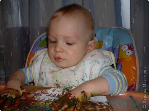 Вот так рисовал мой сынок на днях,Работы минут на 10,зато воссторга и уборки.....))))).это с чего начинал, фото 8