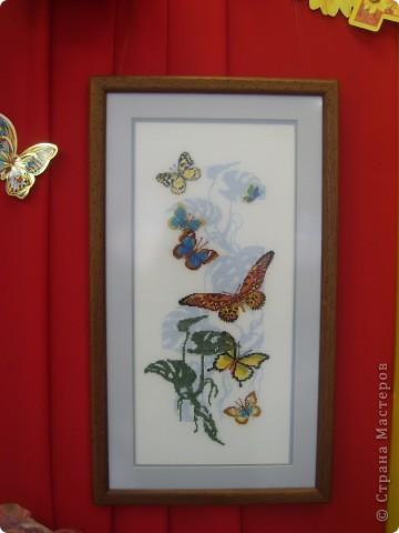 """Полетели белые мухи - и захотелось снова лета. Представляю на ваш суд вышивку """"Тропические бабочки""""."""